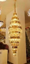 Luxury Crystal pendant Big Size Chandelier For Double Heighted Ceiling Hall,Home And Hotel