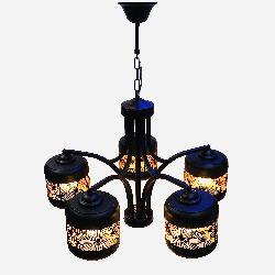 The Classy Cutting Design Black And Gold Finish Lamp Pendant Light Chandelier
