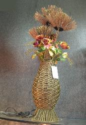 Flower Port Wooden Floor Lamp