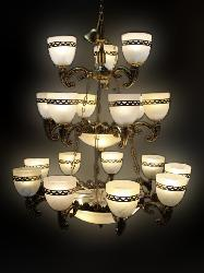 The Royal Glass Lamp Antique Design Chandelier