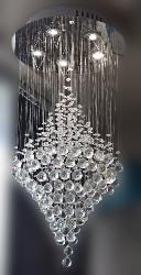 Contemporary Designer Crystal Pendant Hanging Chandelier