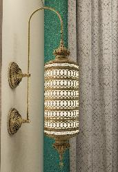 Mughal Design Ancient Cylindrical Wall Lamp