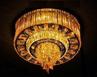 Brighter Crystal Surface Mounted Chandelier