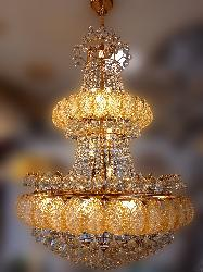 800 MM Diameter Big Size Golden Finish Crystal And Glass Decorative Chandelier