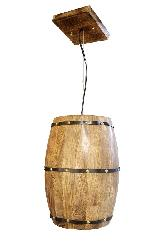 Thee Wood Wine and Whisky Barrel Pendant Light Chandelier For Home and Hotel and Restaurant Lighting