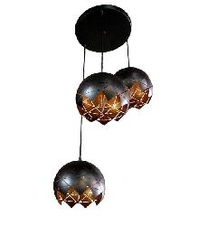 Double Colour Metal Body and Metal Cutting Flower Design Pendant Light Chandelier For Dining Room and Bedroom