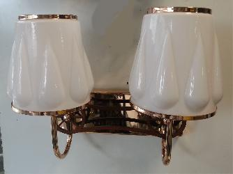 Double Glass Crome Finished Wall Lamp