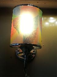 Leaf Printed Glass Wall Lamp