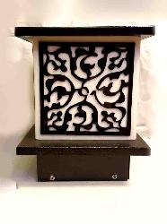 Charming Metal Art Pillar Post Gate Light