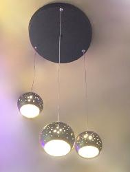 Black and Golden Color Half Cut Ball Pendant Hanging Light