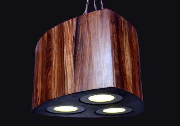 Latest Wooden 6G Three Light Hanging LED Light