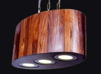 Latest Wooden 5G Three Hanging LED Light