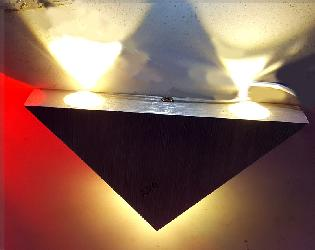Triangle Shape Stainless Steel LED Wall Lamp