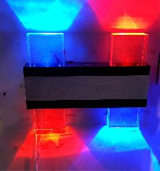 Blue,Red Light Gel Glass LED Wall Lamp