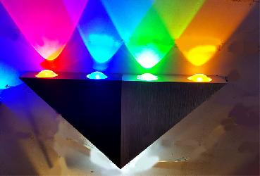 Pirameed Shape 5 Multicolors Stainless Steel LED Wall Lamp