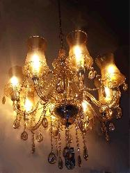 Brown Italian Chandelier