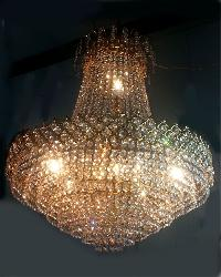 Small Size Golden Crystal Hanging Chandelier