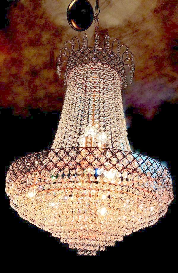 Bright crystal golden chandelier small size golden crystal hanging chandelier aloadofball Images