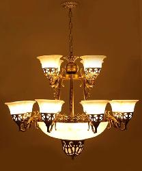 Antique Chandelier With 12 Lamp