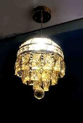 K9 Golden Crystal with LED Pendent Chandelier