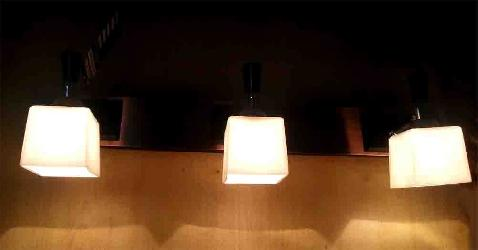 Square Shape Three LED Picture Light With Frosted Glass