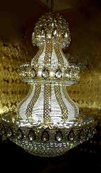 White Dazzle Crystal Big Size Chandelier