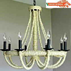 Rope Wheel Modern Hanging Chandelier