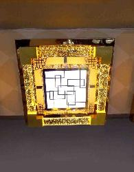 Gel Glass LED Square Ceiling Light
