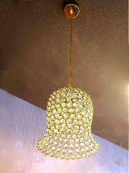 Rounded Fram With Crystal Design LED Ceiling Light