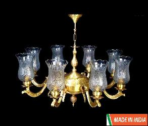 Zestful Design With Jar Glass Antique Hanging Chandelier