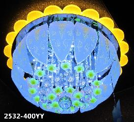 Acrylic Border Multi Color LED Ceiling Chandelier