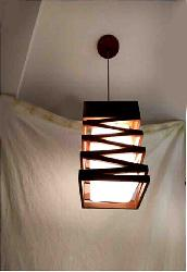 Square Shape Wooden Hanging Light