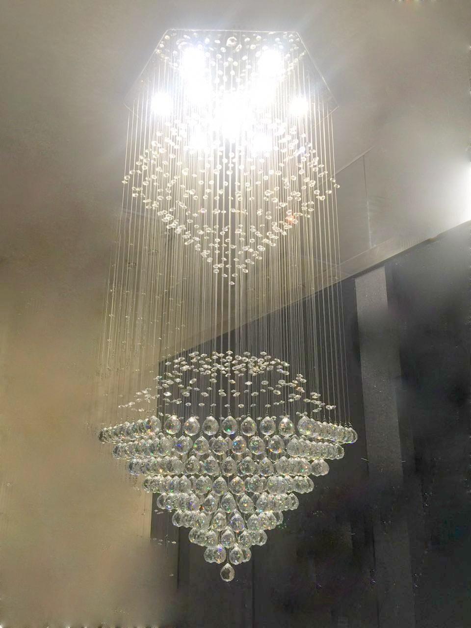 Crystal hanging chandelier pendant hanging chandelier aloadofball Images
