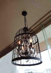 Birdcage Crystal  Decorate Antique Metal Hanging Chandelier