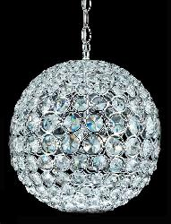 Crystal Ball Hanging Light With Three LED Colors