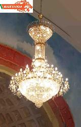 Customize Big Size Golden Frame Crystal Chandelier