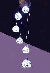 Crystal Ball LED Multicolor Pendent Chandelier